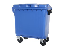 Four-wheeled 770 litre waste container - blue