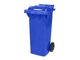Two-wheeled 80 litre waste container - blue