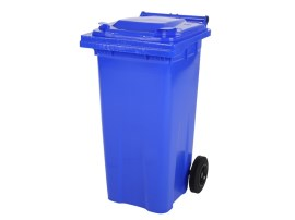 Two-wheeled 120 litre waste container - blue
