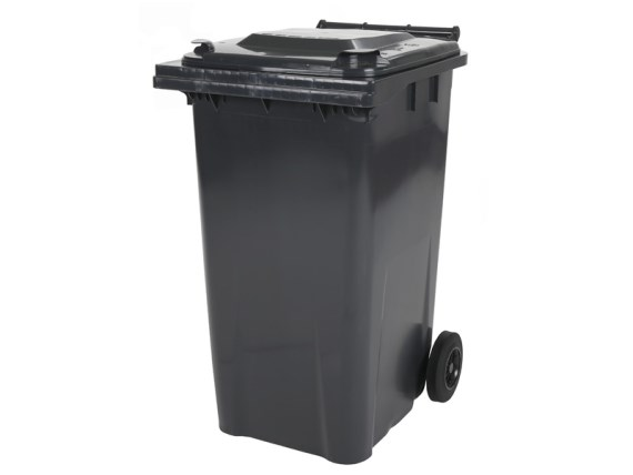 Two-wheeled 240 litre waste container - grey 81881811