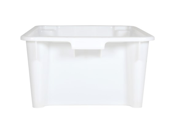 Stacking bin white - short side