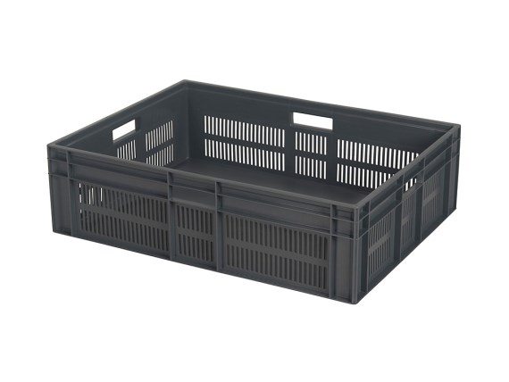 Euronorm stacking crate - A-series - 800 x 600 x H 235 (reinforced closed base) 12.21092