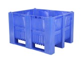 CB3 plastic palletbox - 1200 x 1000 mm - 3 runners - blue