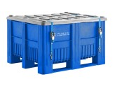 CB3 - UN approved plastic palletbox - 1200 x 1000 mm - 3 runners - blue