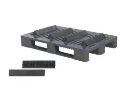 Plastic pallet wedge - short version