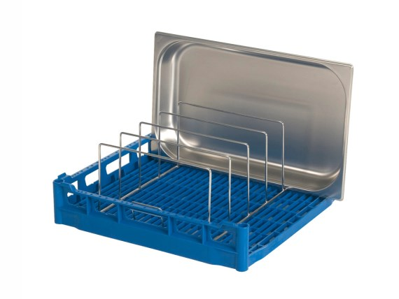 Basket with serving tray insert rack (five trays) 50.IR.5