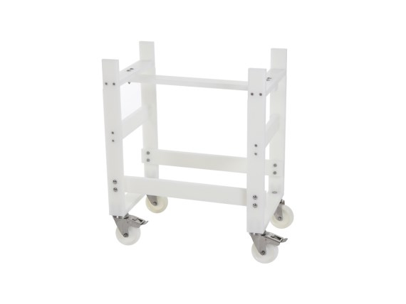 Wheeled plastic table trolley 81291111-ZW-RVS