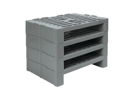 Half Euro pallet - H2 - 800 x 600 mm - stable stacking