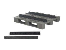 Plastic pallet wedge - long version