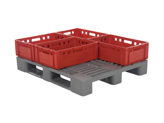 Plastic pallets - H3 - with centring ridges