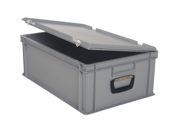 Stacking bin - with lid and case handle - case