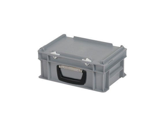 Stacking bin - 300 x 200 mm - with lid and case handle - case - 30.312.KO
