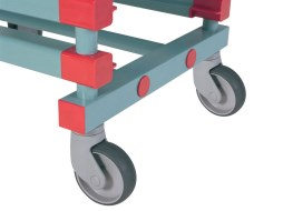 Rack with plastic wheels (unbraked)