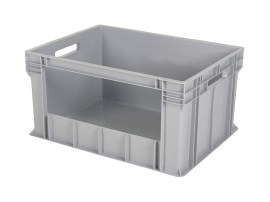 Large Euronorm plastic storage bin - 800 x 600 x H 415 mm