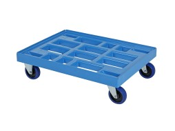 Plastic trolley (810 x 610 x 225) - blue