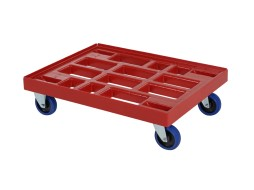 Plastic trolley (810 x 610 x 225) - red