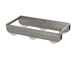 Stainless steel fish box trolley