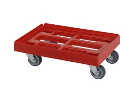 Plastic trolley (610 x 410 x 200) - red