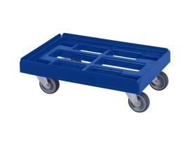 Plastic trolley (610 x 410 x 200) - blue
