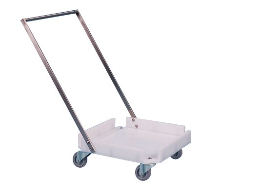 Plastic trolley with push bar - for 500 x 500 mm baskets 50.LK.50B.Z