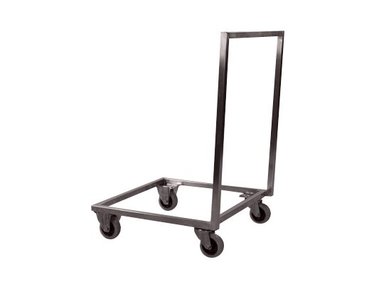 Stainless steel trolley with push bar - for 500 x 500 mm baskets 62.5050.2.RVS