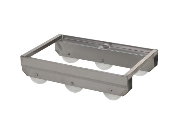 Stainless steel trolley A-89009-RVS