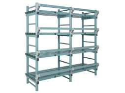Increased floor clearance for nautical rack