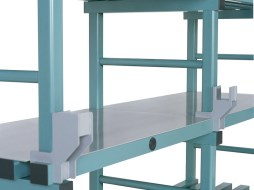 Cover panel for nautical plastic racks