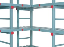 Corner setup for racks