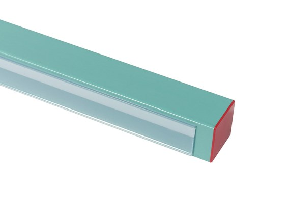 Self-adhesive info strip for plastic racks KRinfostrip