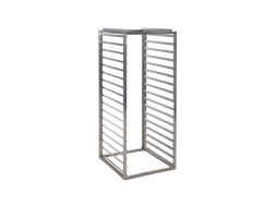 Stainless steel internal rack with 10 spaces for Insulated container 450 litre - Gastronorm