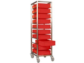 Stainless steel trolley for bins