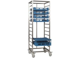 Stainless steel basket trolley
