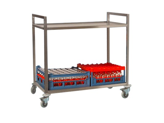 Stainless steel serving trolley 62.SW.15.2.42
