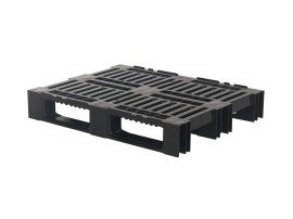 Plastic pallet - H4 ECO - 1000 x 800 mm (with rims - 3 runners)