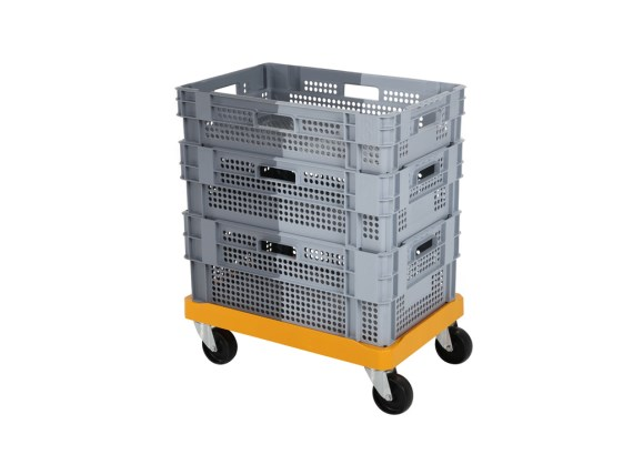 Stacking-nestable bin - Duocolor - on trolley