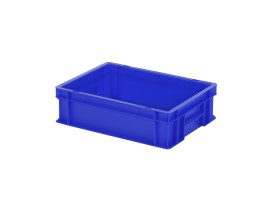 Stacking bin / bin for plates - 400 x 300 x H 120 mm - blue (smooth base)
