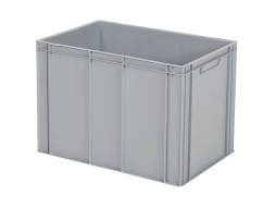 Stacking bin - 600 x 400 x H 425 mm - grey (reinforced base)