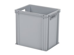 Stacking bin / bin for plates - 400 x 300 x H 400 mm - grey (reinforced base base)
