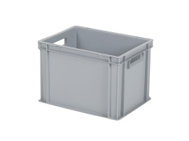 Stacking bin / bin for plates - 400 x 300 x H 280 mm - grey (reinforced base base)