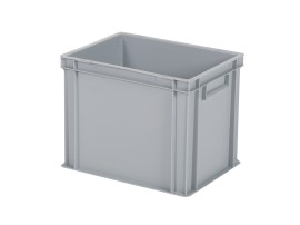 Stacking bin / bin for plates - 400 x 300 x H 320 mm - grey (reinforced base base)