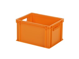 Stacking bin / bin for plates - 400 x 300 x H 236 mm - orange (smooth base)