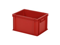 Stacking bin / bin for plates - 400 x 300 x H 236 mm - red (smooth base)