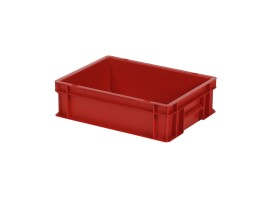 Stacking bin / bin for plates - 400 x 300 x H 120 mm - red (smooth base)