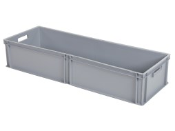 Stacking bin - 1145 x 400 x H 220 mm - grey (smooth base)