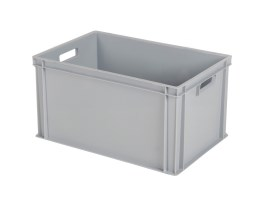 Stacking bin - 600 x 400 x H 320 mm - grey (reinforced base)