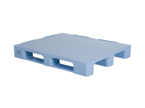 Plastic pallets - TC3 - 1200 x 1000 mm - with rims - blue - 87035841