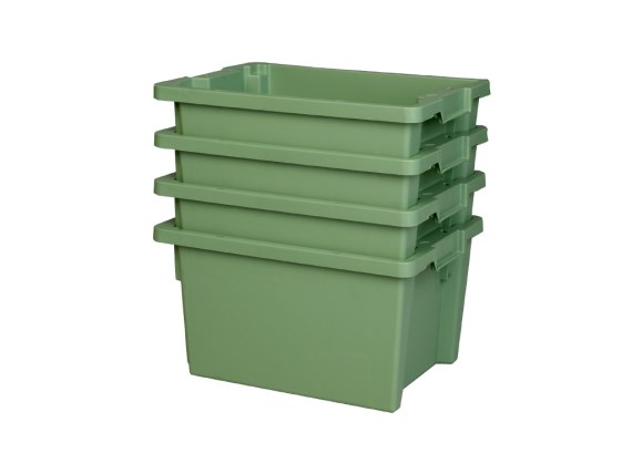Stacking-nestable bin - Tellus - optimal space saving