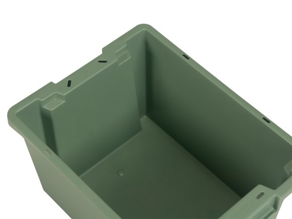 Stacking-nestable bin - Tellus - closed sidewalls and bottom