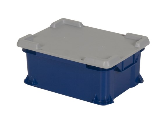 Stacking bin - Unibox - with lid 400 x 300 mm